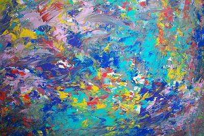 Painting - Underwater Rush by Helene Henderson
