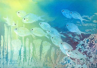 Underwater School Art Print by Arline Wagner
