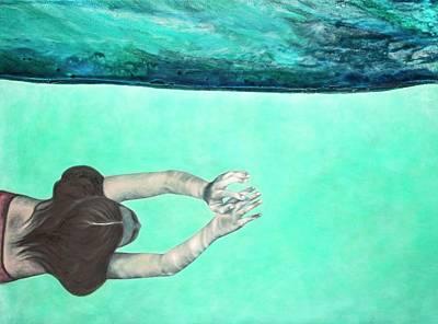 Mixed Media - Underwater Series #2 by Laini Eckardt