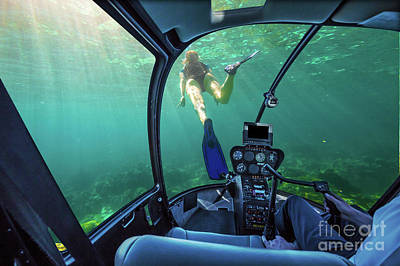 Photograph - Underwater Ship In Coral Reef by Benny Marty