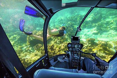 Photograph - Underwater Submarine In Tropical Sea by Benny Marty