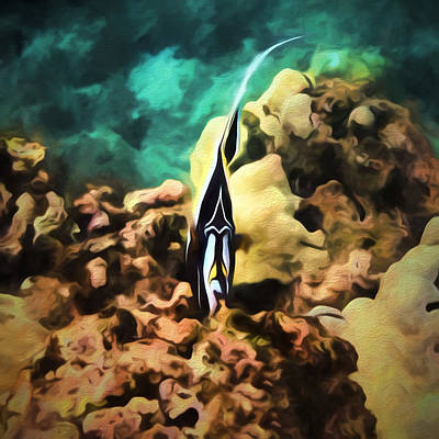 Photograph - Underwater Tiki by Susan Rissi Tregoning