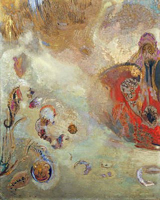 Famous Fish Abstract Painting - Underwater Vision by Odilon Redon