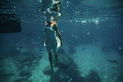 Photograph - Underwater White Dress Vii by Gemma Silvestre