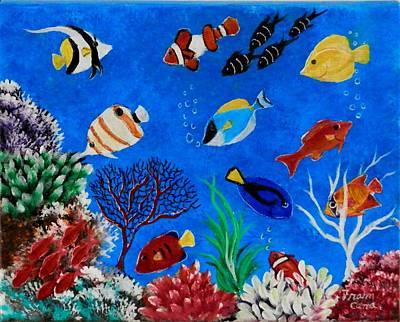 Painting - Underwater World by Fram Cama