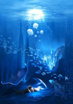 Surrealism Digital Art - Underwater World by Svetlana Sewell