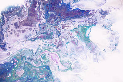 Photograph - Underwater Worlds Fragment 8.  Abstract Fluid Acrylic Painting by Jenny Rainbow