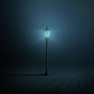 Street Lamps Digital Art - Underwater by Zoltan Toth