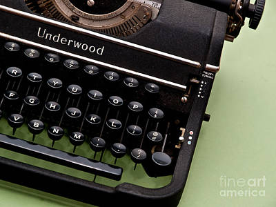 Typewriter Keys Photograph - Underwood by Valerie Morrison