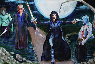 Painting - Underworld Trilogy by Charles Bickel