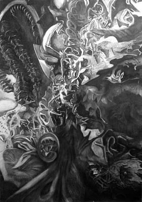 Gaudi Drawing - Underworldscape After Gaudi by Alberto Martorana
