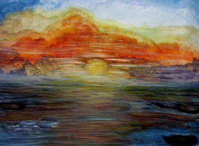 Water Color Painting -  Undetermined Location by Stephanie Zelaya