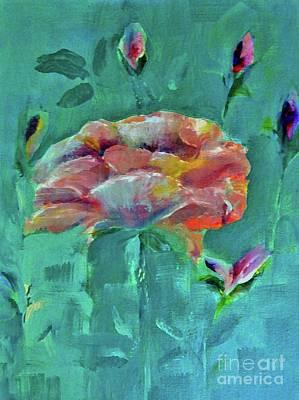Flower Painting - Undeterred by Lisa Kaiser