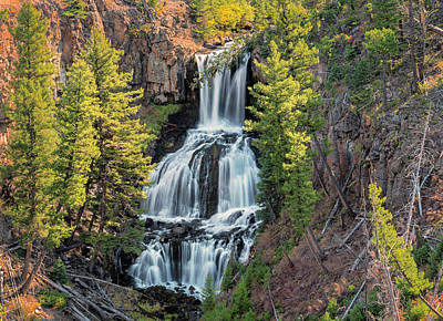 Hot Creek Photograph - Undine Falls At Yellowstone by Loree Johnson
