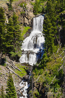 Photograph - Undine Falls Yellowstone by Jennifer White