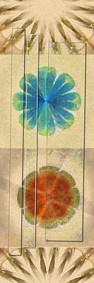 Undrivable Stripped Flowers  Id 16164-224507-00531 Art Print by S Lurk