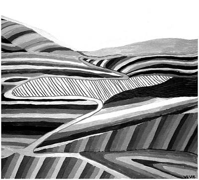 Painting - Undulations by VIVA Anderson