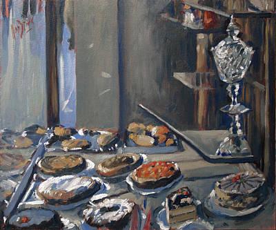 Painting - Une Coupe A Gingembre En Cristal De La Patisserie Royale A Maastricht by Nop Briex