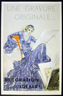 Louis Icart Painting - Une Gravure Originale by Louis Icart