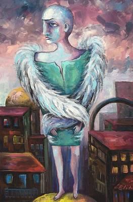 Unemployed Angel Art Print by Elisheva Nesis