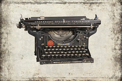 Typewriter Keys Mixed Media - Unerwood Standard Typewriter by Daniel Hagerman