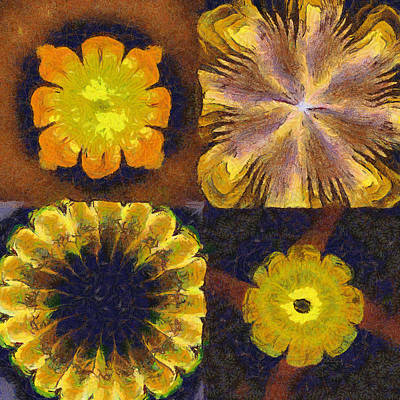 Slate Pattern Painting - Unevanescent Unclothed Flowers  Id 16164-214010-20820 by S Lurk