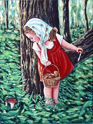 Basket Head Painting - Unexpected Find  by Katreen Queen