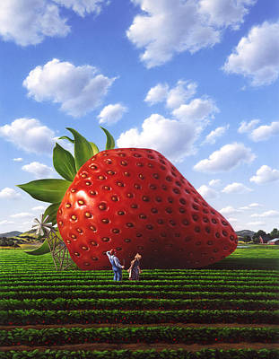 Berry Painting - Unexpected Growth by Jerry LoFaro