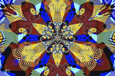 Digital Art - Unfinished Charka by Jim Pavelle