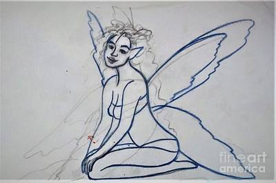 Drawing - Unfinished Fairy13 by Suzn Art Memorial