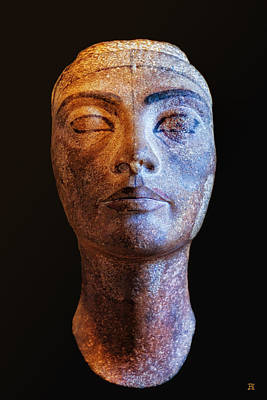 Photograph - Unfinished Nefertiti by Nigel Fletcher-Jones