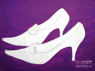 Painting - Unfinished Shoes by Stacy C Bottoms