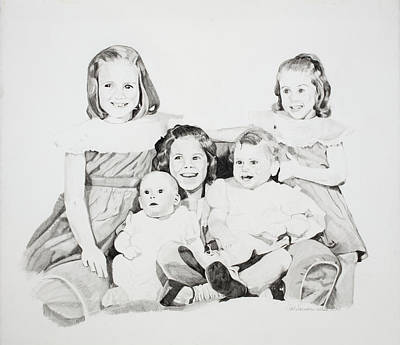 Unfinished Sisters Art Print by Pat Saunders-White