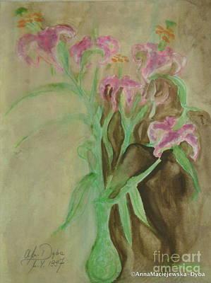 Painting - Unfinished Watercolor by Anna Folkartanna Maciejewska-Dyba