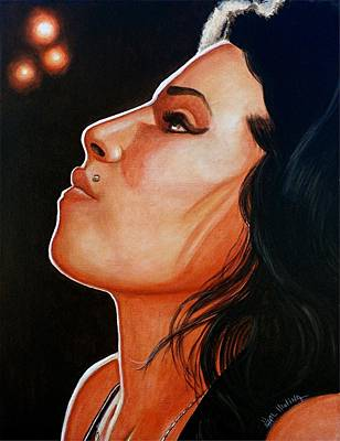Art Print featuring the painting Unforgettable Amy by Al  Molina