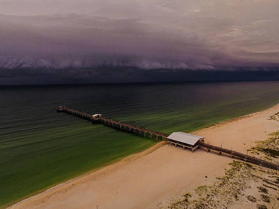 Photograph - Unfriendly Clouds At Gulf State Pier by Michael Thomas