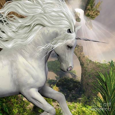 Fawn Digital Art - Unicorn And Yucca Plant by Corey Ford