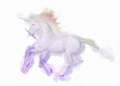 Unicorn Art Painting - Unicorn By Mary Bassett by Mary Bassett