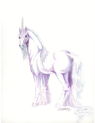 Unicorn Art Print by Christine Winters