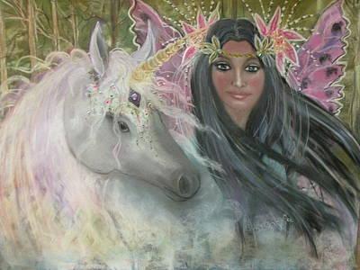 Unicorn Faery Mother Art Print