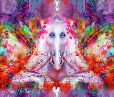 Digital Art - Unicorn Fairy by Kari Nanstad