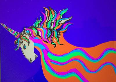 Drawing - Unicorn For Candy by Erika Chamberlin