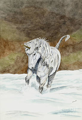 Painting - Unicorn Icelandic by Shari Nees