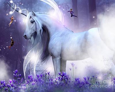 Digital Art - Unicorn Kisses by Elle Arden Walby