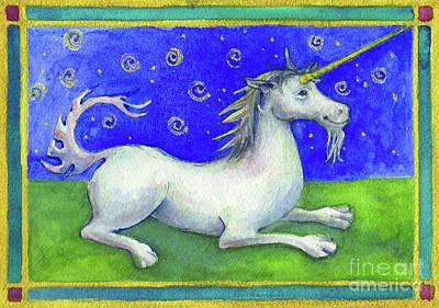 Painting - Unicorn by Lora Serra