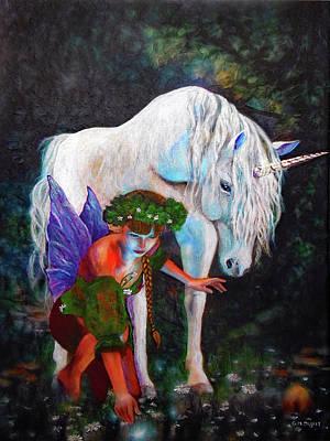 Painting - Unicorn Magic by Michael Durst