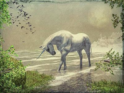 Painting - Unicorn Moon by Bob Orsillo
