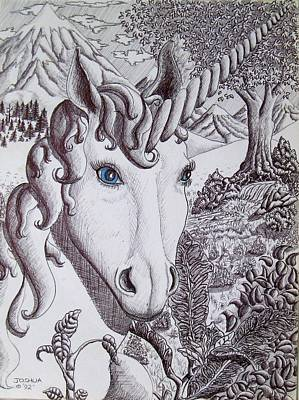 Unicorn On Vacation Art Print by Joshua Armstrong