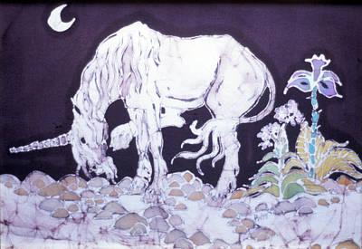 Unicorn Pauses Print by Carol  Law Conklin