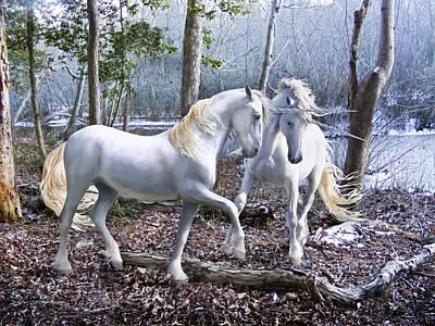 Unicorn Reunion Art Print by Barbara Hymer